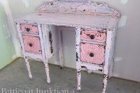 DIY shabby chic blush vanity
