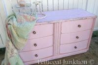 DIY pink dresser