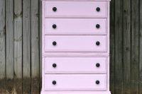 DIY pale pink dresser