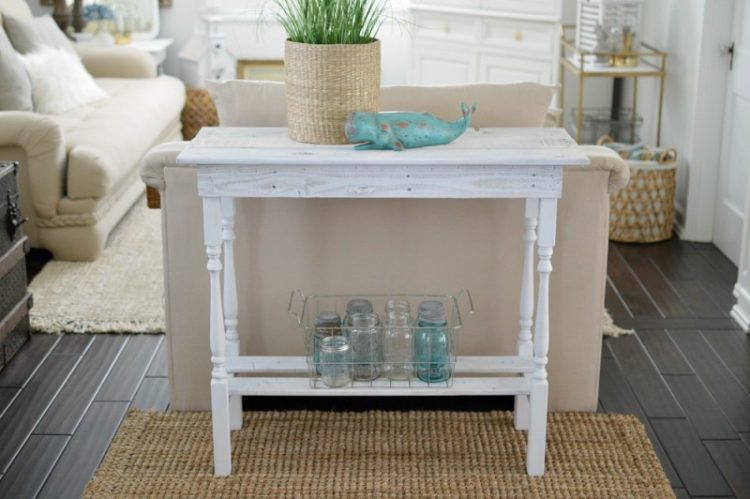 DIY whitewashed woode table (via foxhollowcottage)