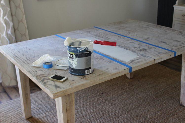 DIY dining table whitewashing (via proverbs31girl)