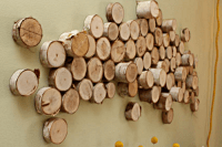 DIY rustic wood logs wall art