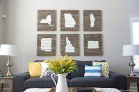 DIY home state wood art