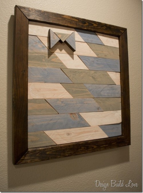 DIY recycled wood wall art (via shelterness)