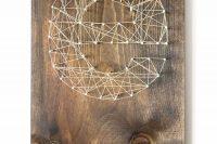 DIY string wood wall art