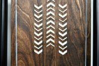 DIY wooden tribal art piece