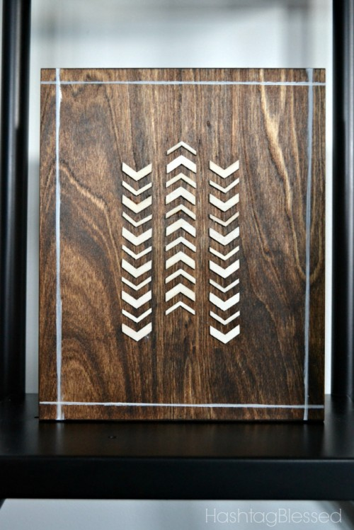 DIY wooden tribal art piece (via shelterness)