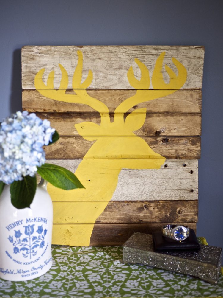 Superb DIY rustic silhouette wall art via https