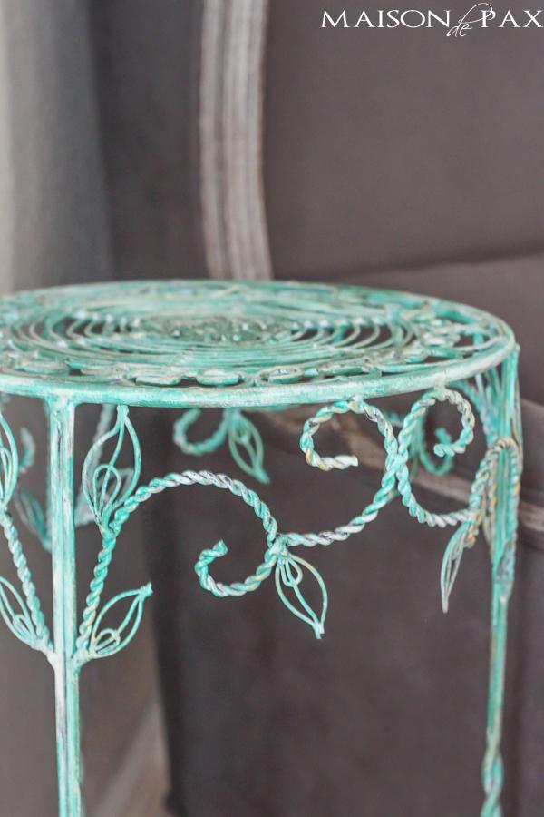 DIY faux oxidized paint (via maisondepax)