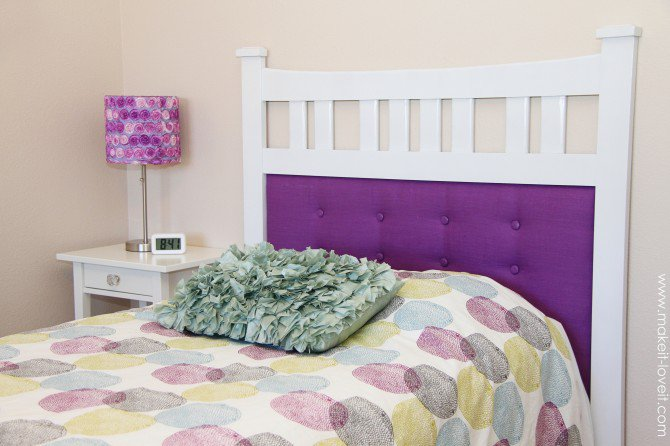 DIY framed tufted headboard (via makeit-loveit)