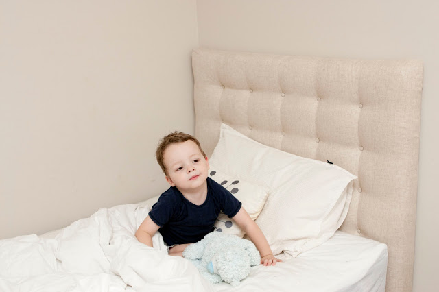 DIY tufted headboard for a kid's bed (via maxandmeblog)