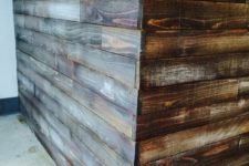 How to stain wood to look rustic and weathered