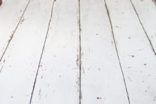 Faux planked look for tabletops