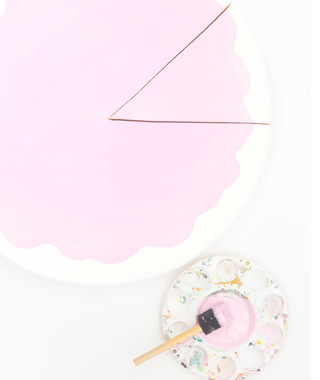Picture Of fun and bold diy sliced cake wall clock  4