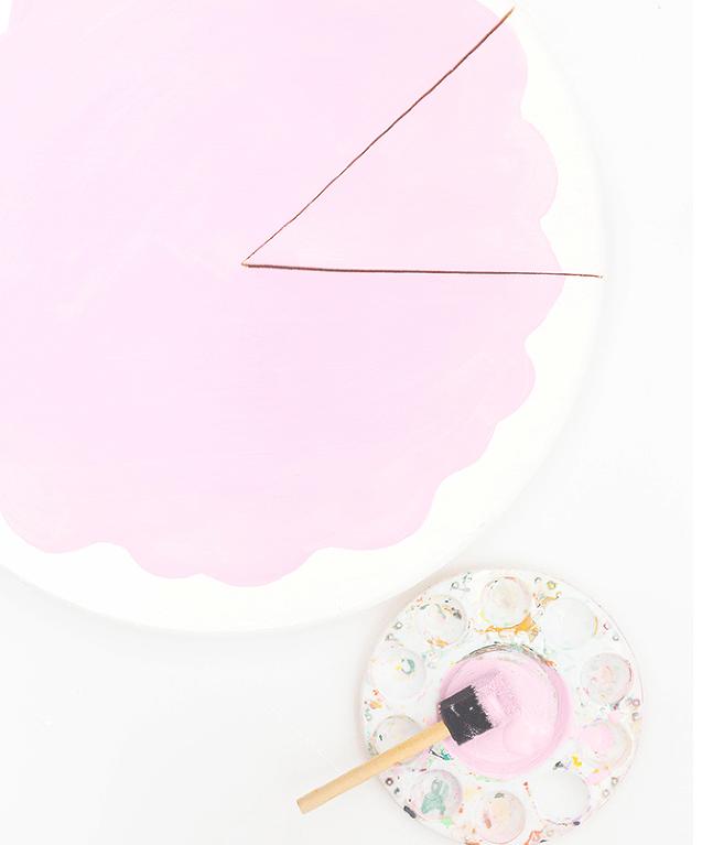 Fun And Bold DIY Sliced Cake Wall Clock