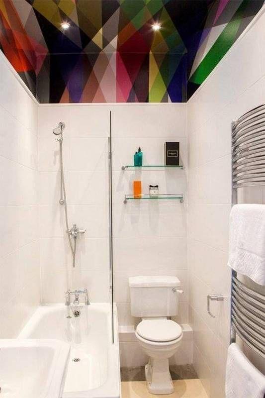geometric bathroom ceiling