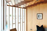 geometric wooden ceiling
