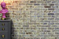 How to whitewash faux bricks