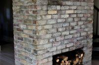 DIY treehouse whitewashed bricks
