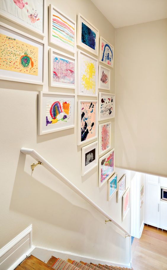 kids picture gallery wall