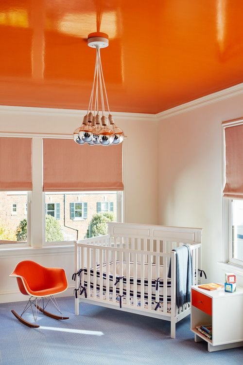 orange nursery ceiling