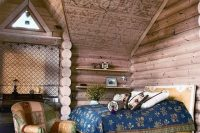 patterned rustic wooden ceiling