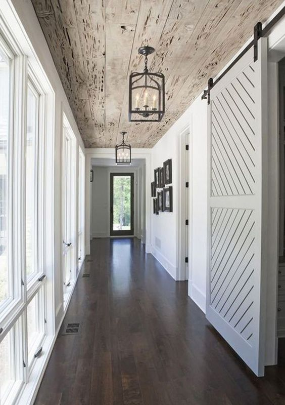 reclaimed wooden ceiling for a hallway - Reclaimed Wood Ceiling