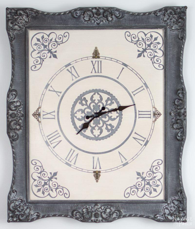 Refined DIY Vintage-Inspired Framed Wall Clock