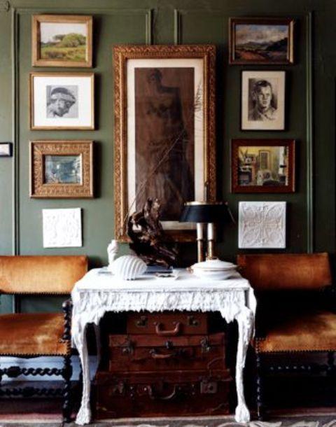 refined vintage frame wall art