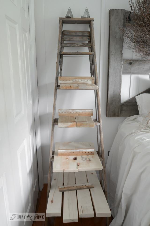 Rustic And Vintage Inspired Diy Stepladder Nightstand