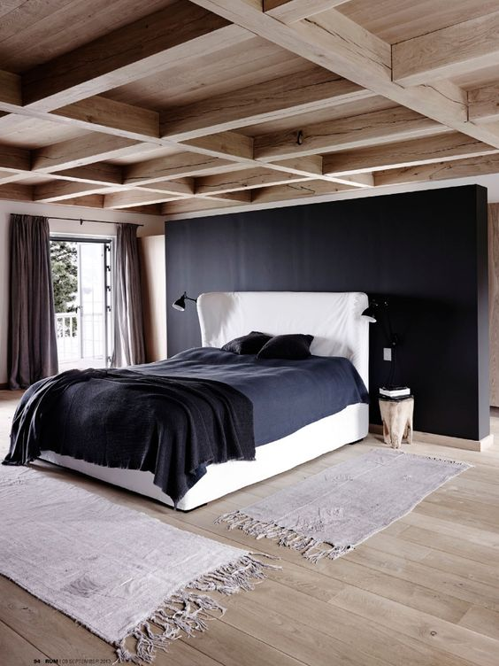 simple coffered wooden ceiling