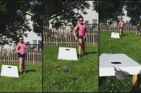 DIY cornhole game