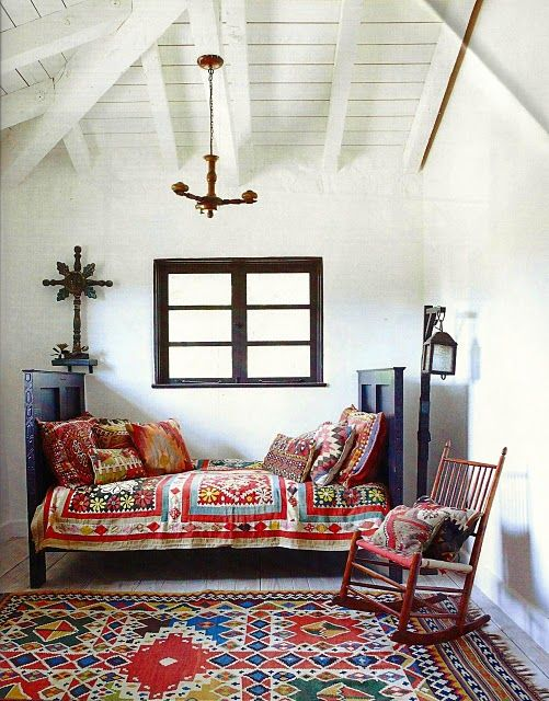 simple whitewashed wooden ceiling