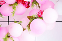 DIY balloon garland for parties