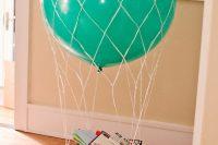 DIY hot air balloon basket