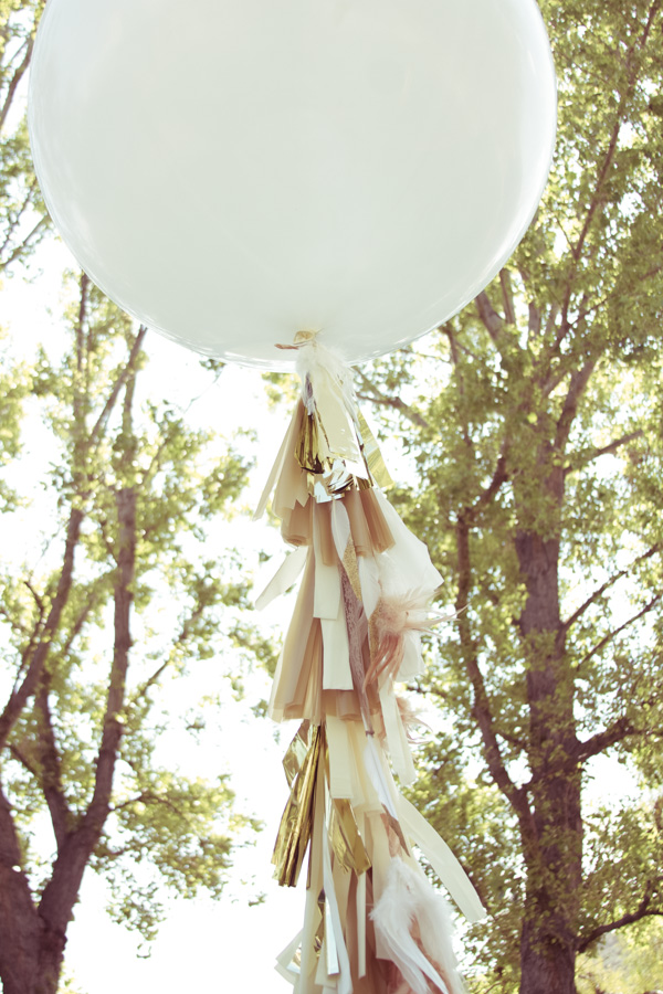DIY fringe balloons (via lilyshop)