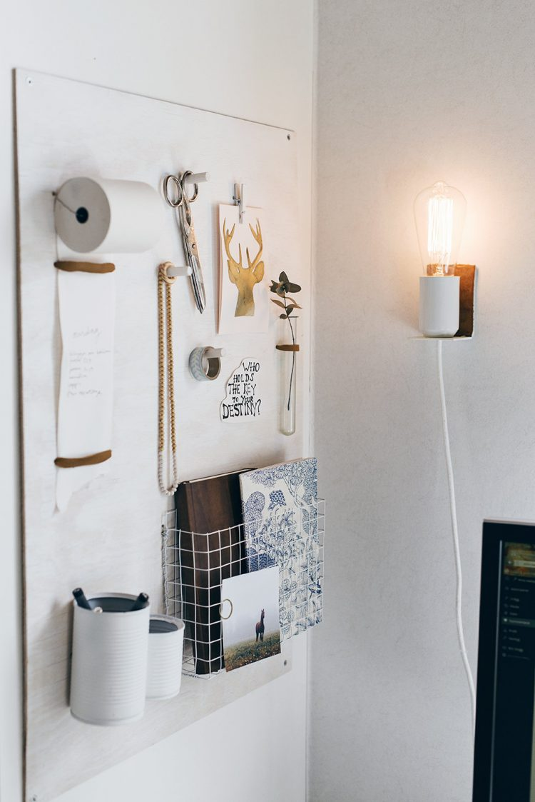 Small DIY Wall Lamp With A Touch Of Leather