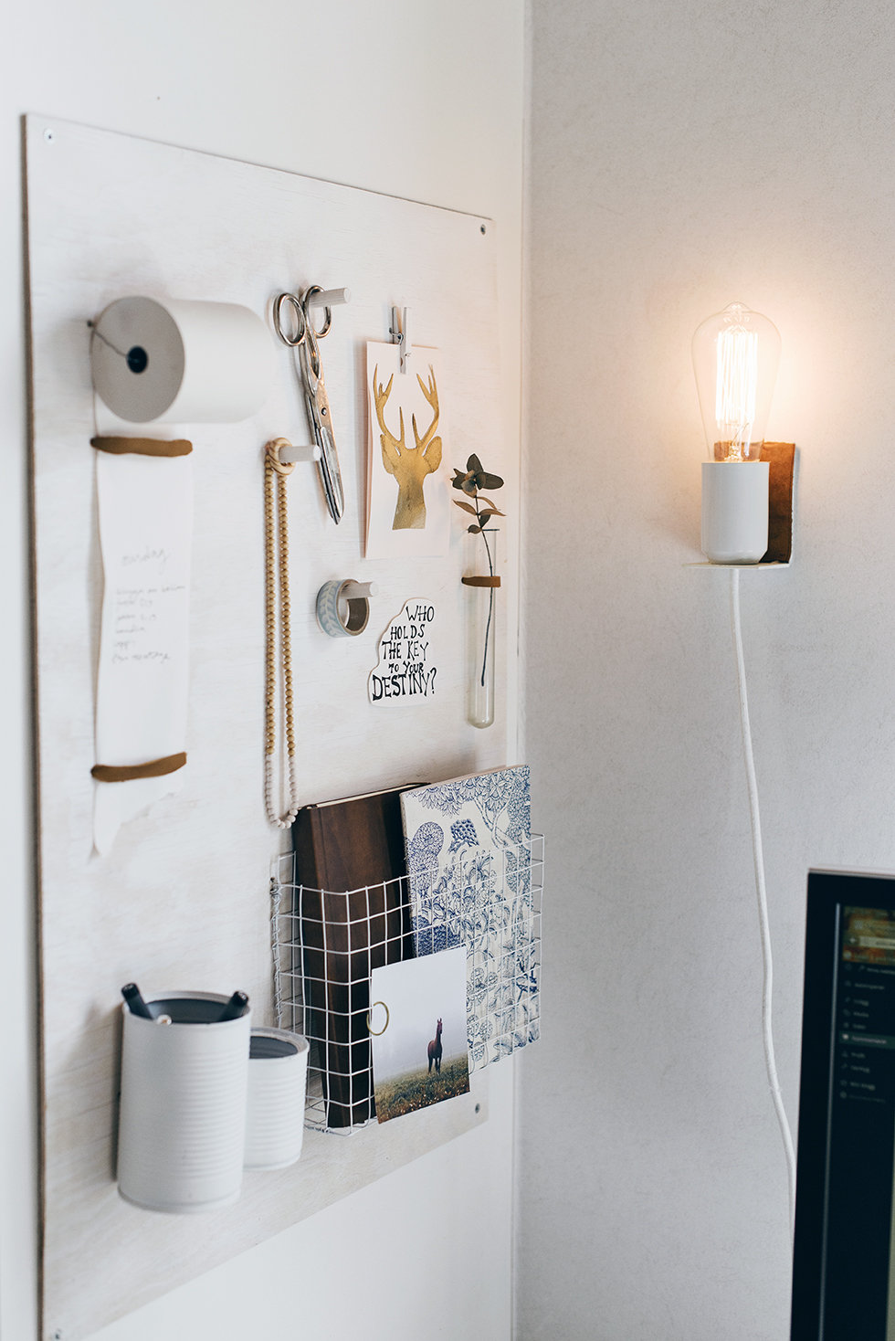 Picture Of small diy wall lamp with a touch of leather  6