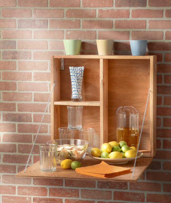 Space-Saving DIY Outdoor Serving Station