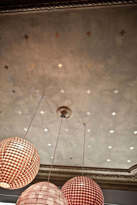 stars on copper ceiling