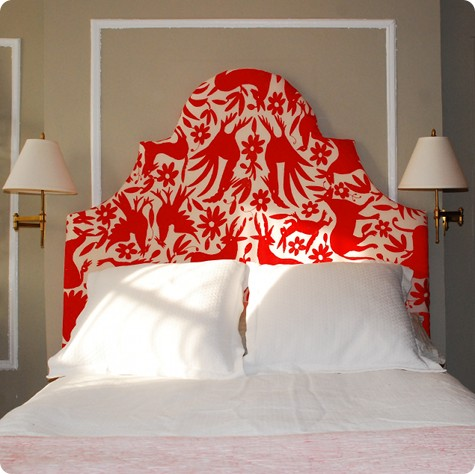 DIY upholstered framed headboard (via designsponge)