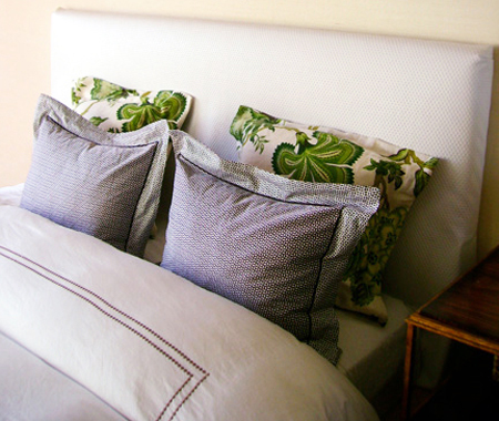DIY white upholstered headboard (via houseandhome)