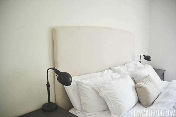 DIY upholstered headboard (via lizmarieblog)
