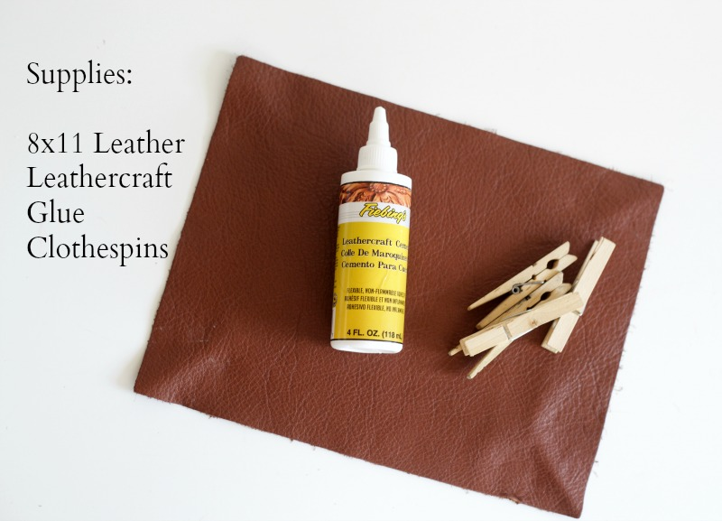 Picture Of super easy and fast diy catch all leather tray  3