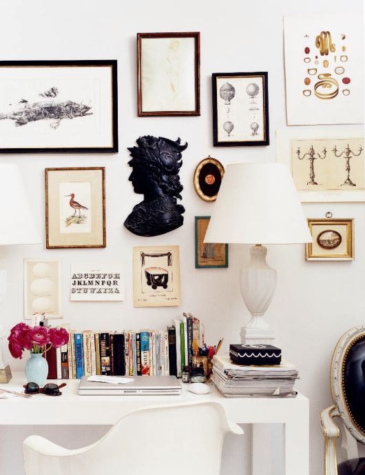 various vintage frames for a gallery wall
