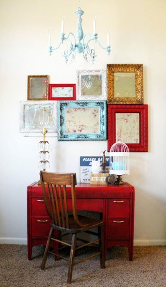 vintage frames with artworks