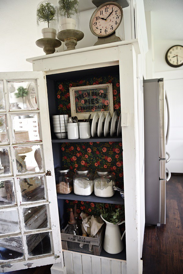 Vintage Inspired DIY Old Window Floor Cabinet