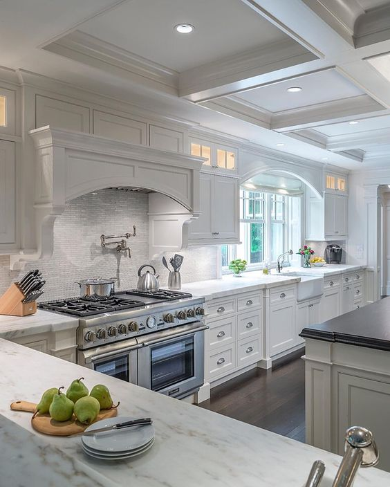 36 stylish and timeless coffered ceiling ideas for any for Ceiling ideas kitchen