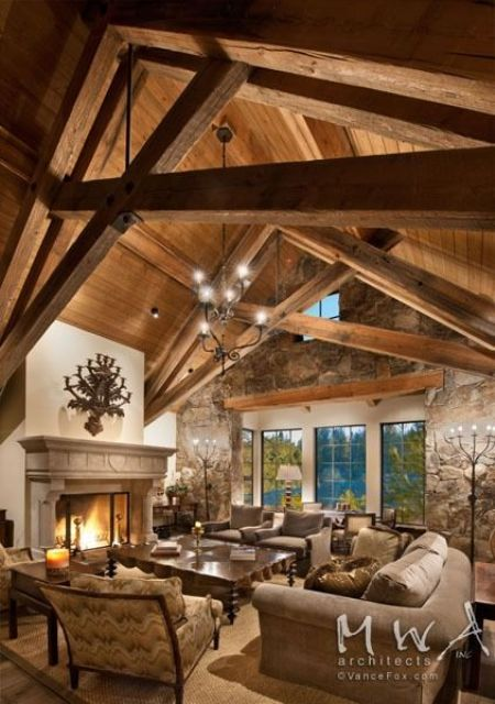 Wood Beam Ceiling Ideas ~ Cozy wood ceiling ideas to warm up your space shelterness