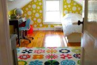 02 bold printed attic kids' room
